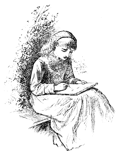 Amy sat down to draw
