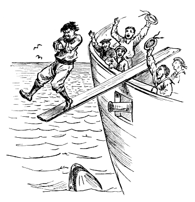 The Portuguese walked the plank