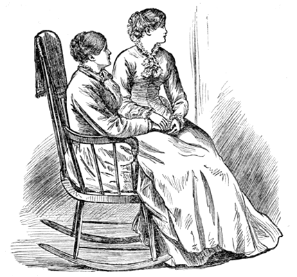 Mrs. Laurence sitting in her mother's lap