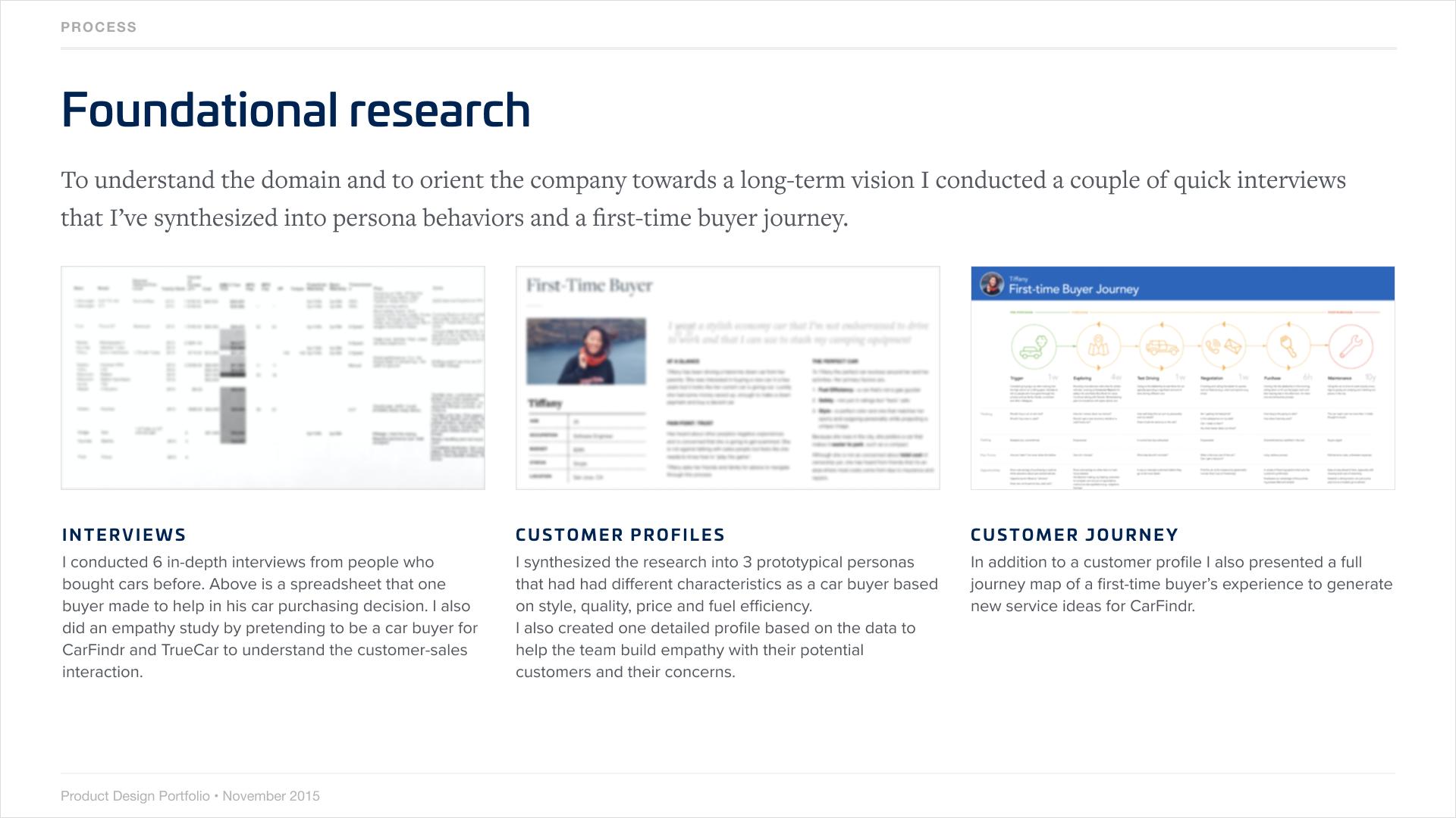 Example process slide