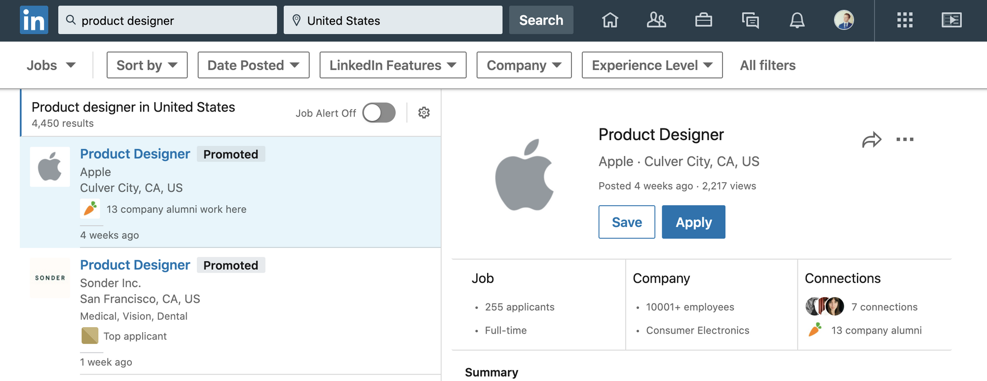 Setting your job alert preferences