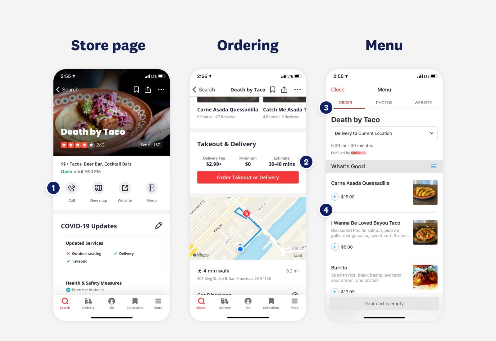 choosing what to order
