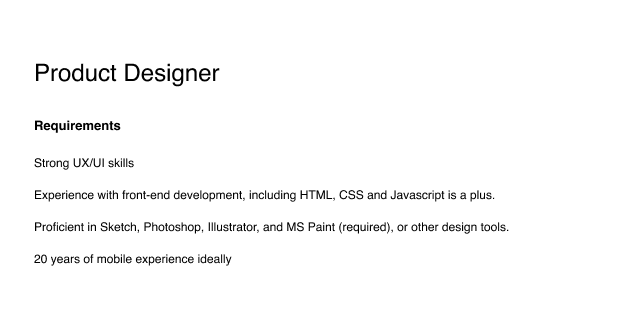 These design requirements are getting out of control.