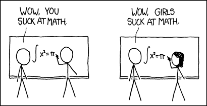 Stereotype threat in action from xkcd